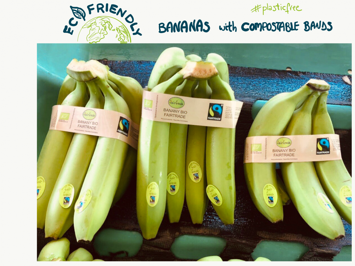 Compostable bands for bananas