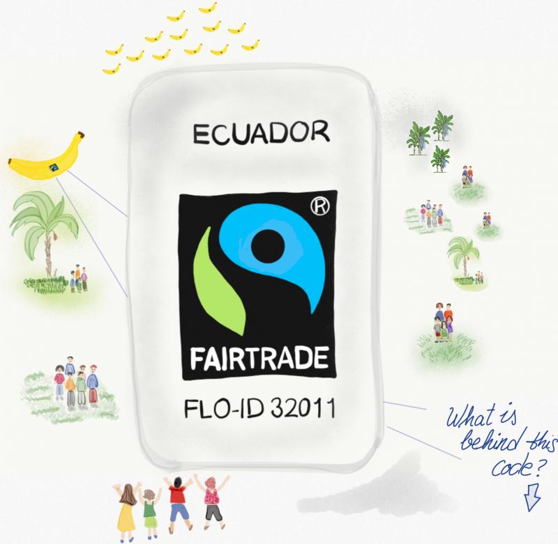 Fairtrade bananas label