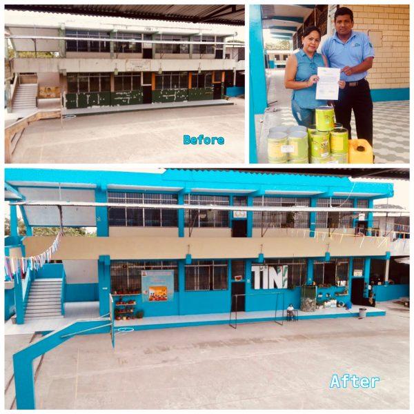 Refurbishment of a local school's façade