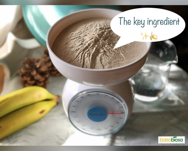 Banana flour as key ingredient
