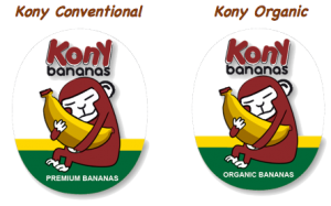 Kony stickers conventional and organic