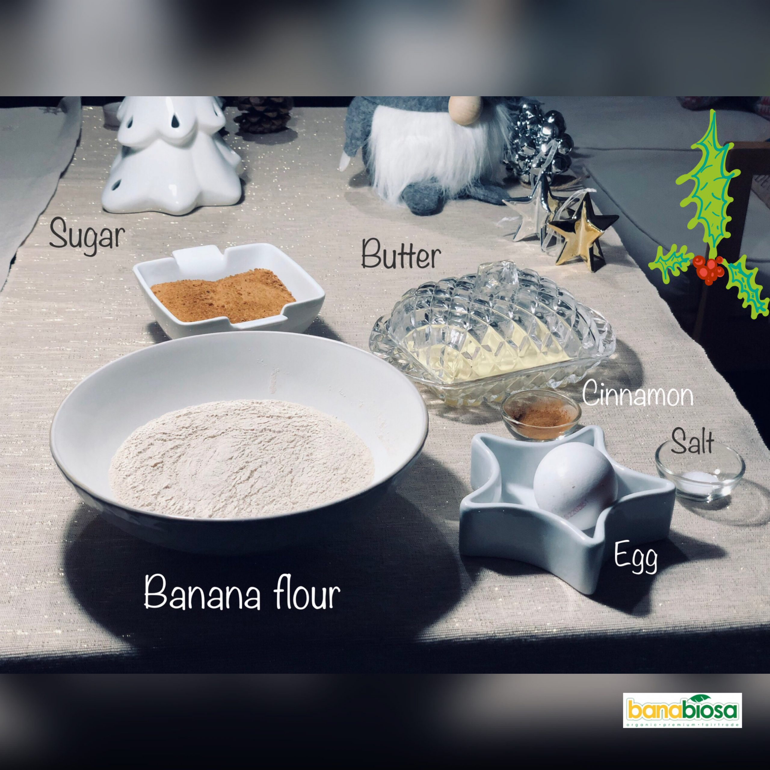 Banana cookies list of ingredients