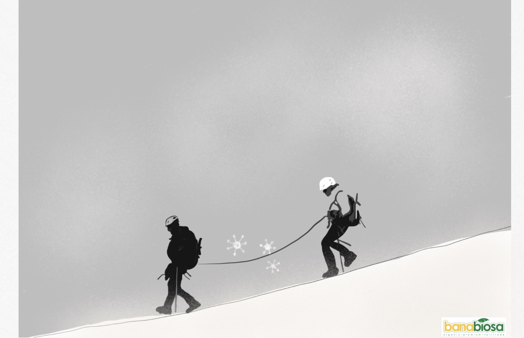 Descent of mountaineers